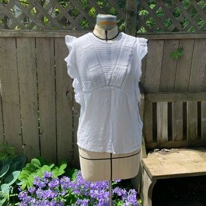 Pretty Dex flutter sleeve blouse